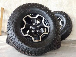 "17"" Jeep Wrangler Gladiator Rubicon Wheels Rims Rines and Tires Llantas for Sale in Huntington Beach, CA"