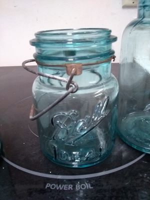 Antique canning jars. I have a few of them. They did 1908. + China from England for Sale in Beaverton, OR