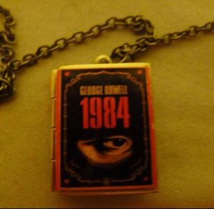 George Orwell 1984 Book Locket Necklace for Sale in San Jose, CA