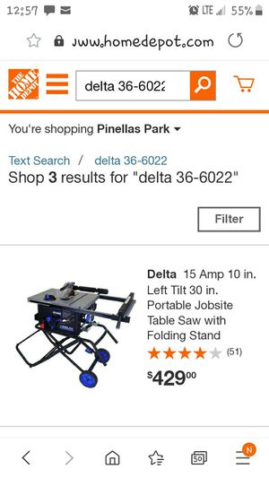 Delta portable saw table for Sale in St. Petersburg, FL
