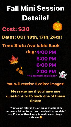 Fall Mini Sessions! for Sale in Rossford, OH