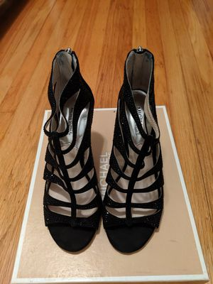 Michael Kors high heel black open toe shoes size 7.5 7 1/2 for Sale in Mountain View, CA