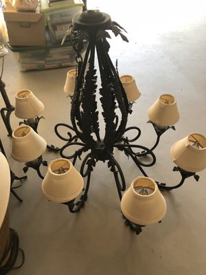 Large iron chandelier- electrified for Sale in Oakland Park, FL