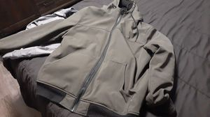 Mens army green levi hoody coat for Sale in Saugus, MA
