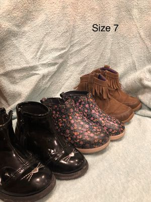 Toddler Ankle Boots- Size 7 for Sale in Las Vegas, NV