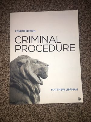 Criminal Procedure by Mathew Lippman, Fourth Edition for Sale in Morada, CA