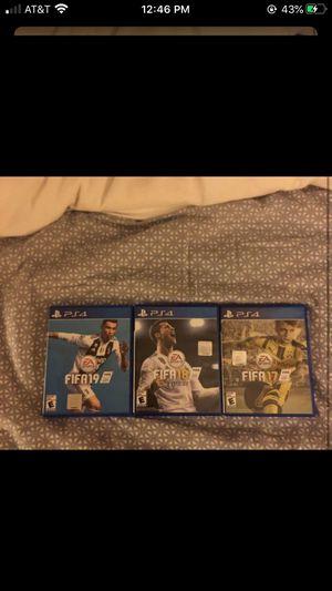 Playstation 4 FIFA 17-19 Bundle for Sale in Mukilteo, WA