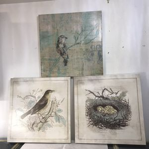 "Set of 3 - 24"" pictures birds nest art for Sale in Tacoma, WA"