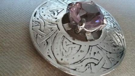 Brooch/Pin - Silver w/Amethyst Stone for Sale in Salt Lake City,  UT