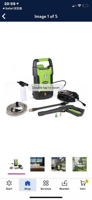 GreenWorks 1600 PSI 13 Amp 1.2 GPM Pressure Washer GPW1602 for Sale in Las Vegas, NV