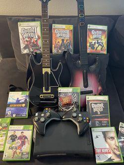 Xbox 360 120GB w/Guitar Hero Bundle for Sale in Aurora,  CO