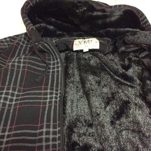 Brand New YMI Warm Plaid Hoodie Fur ZIP-up Jacket size M in package for Sale in Austin, TX