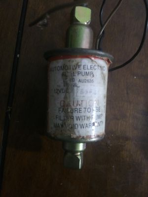 Electric fuel pump needs one attachment threaded valve for Sale in Papaikou, HI