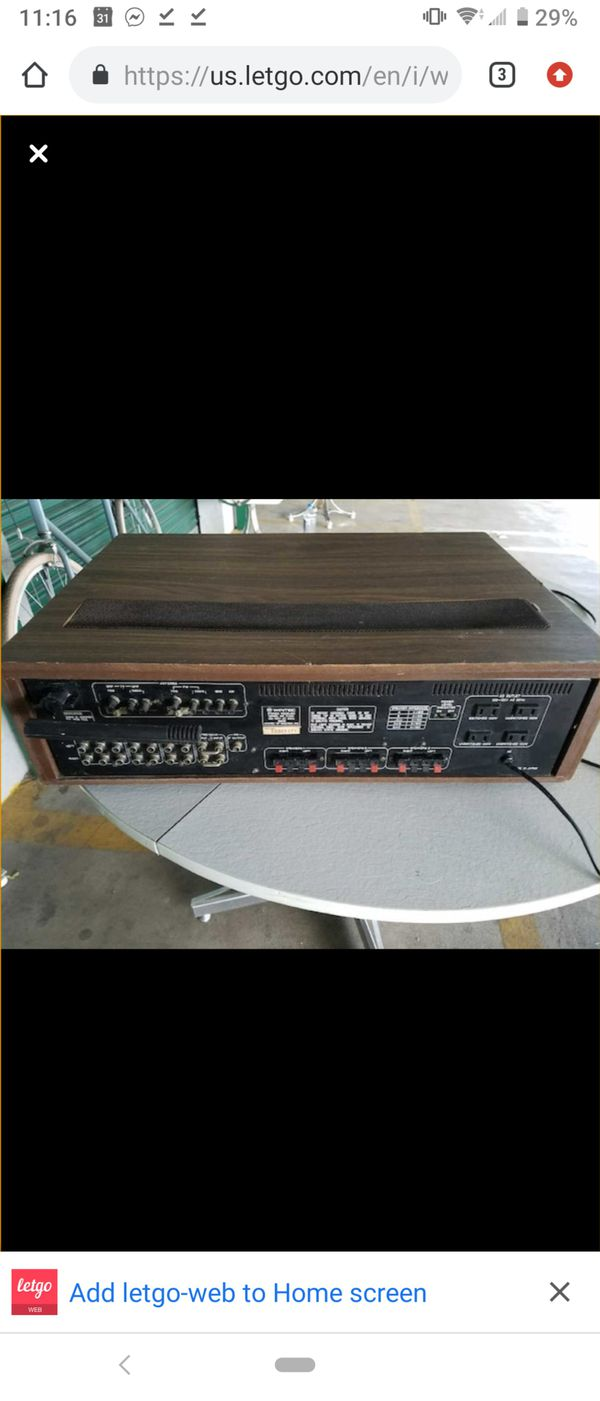 Vintage Wintec R1120 Japanese Stereo Receiver