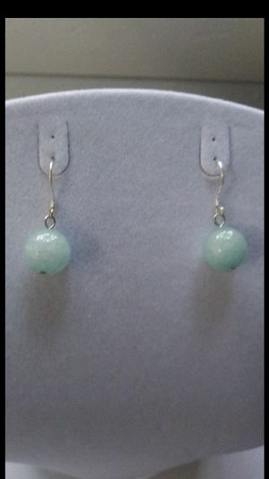 Lihgt blue Brazil aquamarin silver 925 dangle earings for Sale in Richmond, CA