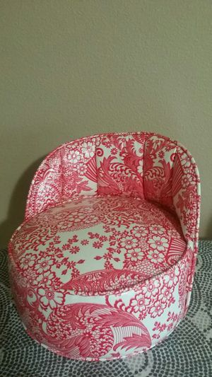 Vintage style oil cloth wrapped baby booster seat for Sale in Portland, OR