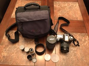 Vintage Nikon N65 film camera, all accessories and Lowepro bag for Sale in Phoenix, AZ