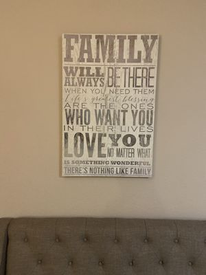 Family wall canvas for Sale in Chula Vista, CA