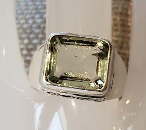 5.45Ct Natural Praziolite Ring for Sale in Leavenworth, WA
