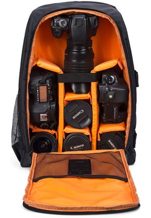 Camera Backpack Waterproof for DSLR/SLR Cameras (Canon, Nikon, Sony and etc), Laptops, Tripods, Flashes, Lenses and Accessories for Sale in Corona, CA