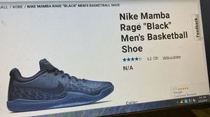 Nike black Mamba Rage Kobe Bryant shoes size 10 used two times for Sale in Carson, CA