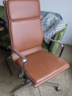 Beautiful Brown Leather Office Chair for Sale in Portland,  OR