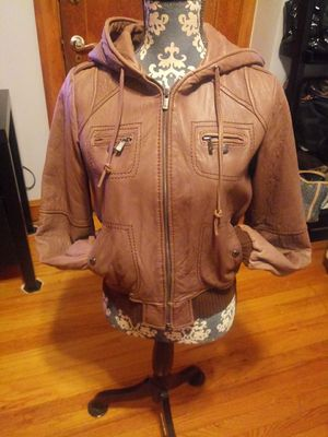 Michael Kors leather womens jacket size large for Sale in Chicago, IL