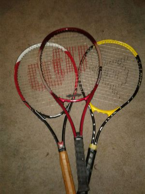 3 tennis rackets for Sale in St. Louis, MO