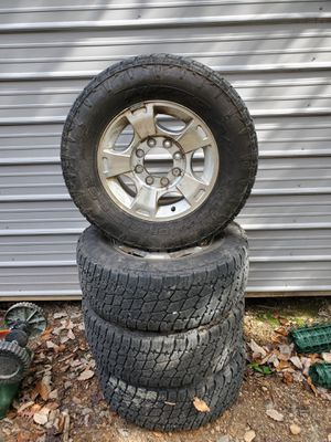 Into tera grapplers 8 lug factory alloy wheels with nito terra grappler LT285/65R18 tires for Sale in Chesterfield, VA