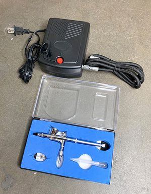 (NEW) $35 Airbrush Kit w/ Air Compressor & Dual-Action Airbrush for Makeup, Tattoo, Cake Decorating for Sale in Whittier, CA