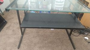 Glass desk black for Sale in Anaheim, CA