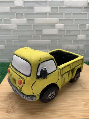 Retro Car Planter (Yellow Truck) for Sale in Falls Church, VA