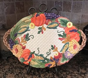 New Fitz & Floyd Fall Harvest Platter 1995 for Sale in Frisco, TX