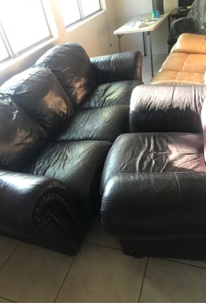 Free Leather Couches - 2 sets for Sale in Chandler, AZ
