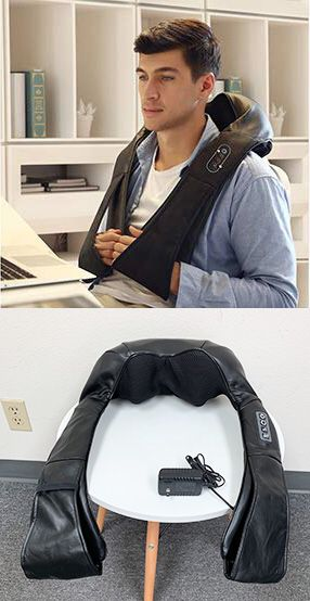 New $40 Portable Shiatsu Kneading Neck Back Waist Shoulder Massager Heat Home Car Office for Sale in South El Monte, CA