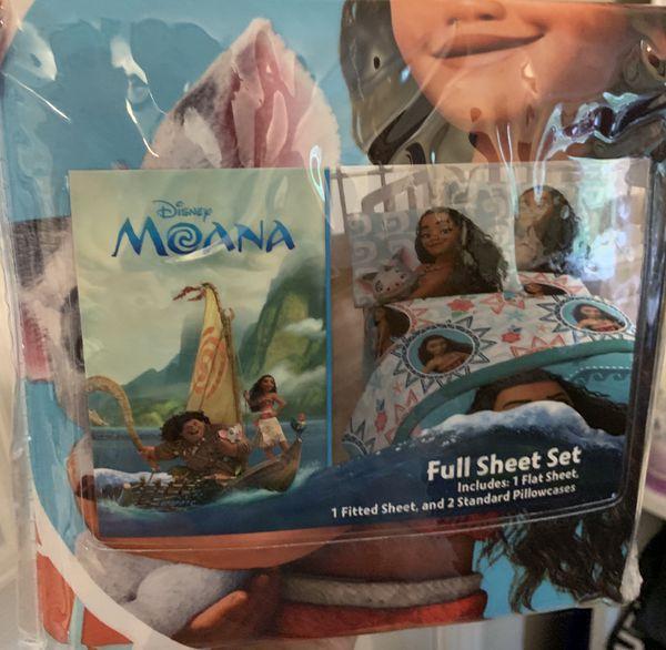 Brand new Disney Moana Full Sheet Set