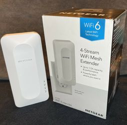 Netgear AX1800 4 Stream WiFi Mesh Router Extender EAX15-100NAS for Sale in Germantown,  MD