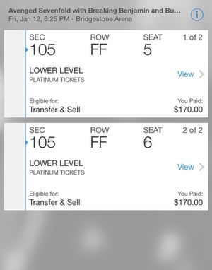 Avenged Sevenfold The Stage Tour Concert Tickets Nashville Tennessee for Sale in Nashville, TN