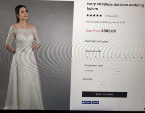 New Gown with Bolero for Sale in Roanoke, VA