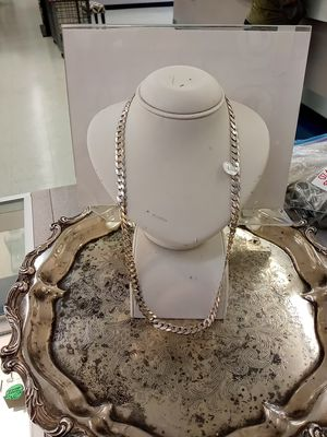 Mens cuban silver Necklace for Sale in Houston, TX