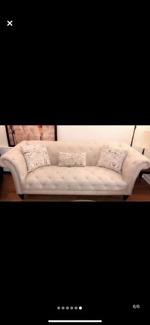 Beige tufted Sofa selling fast $249 for Sale in Alexandria, VA