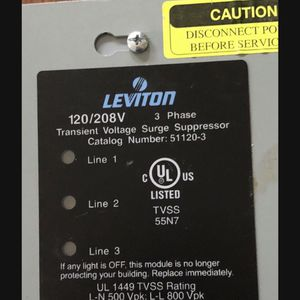 Leviton 51120-3 surge protective device used for Sale in Battle Ground, WA