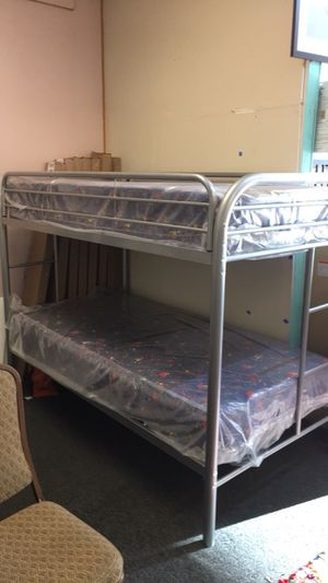 New Twin Over Twin Bunk Bed With Mattress $375 for Sale in Nashville, TN