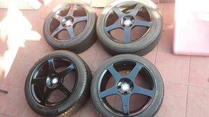 """Rines 17 """" ,Honda civic, accord, acura integra, Mazda miata 205/55/17 atrás y 215/45/17 enfrente for Sale in Los Angeles, CA"""