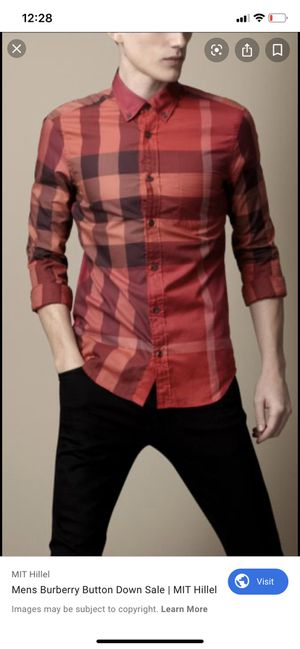 Burberry Brit Fred shirt short sleeve sz l for Sale in Wilmer, TX