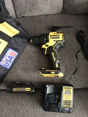 NEW DEWALT 20-Volt MAX Lithium-Ion Cordless 1/2 in. Drill/Driver Kit 20-Volt Batteries 1.3Ah, Charger and Tool Bag for Sale in Los Angeles, CA
