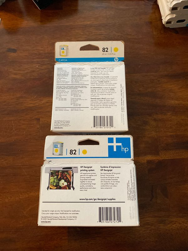 HP 82 ink cartridges (yellow only)