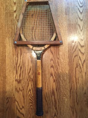 Vintage Mercer Beasley Signature tennis racket with press for Sale in Lincolnwood, IL