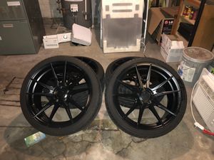 Rohana fr2 wheels sz19x9.5-5.114 Or trade for 370z rays wheels for Sale in Philadelphia, PA