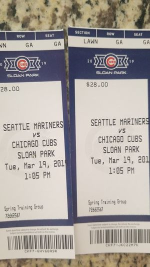 Cubs spring training tickets for Sale in Mesa, AZ